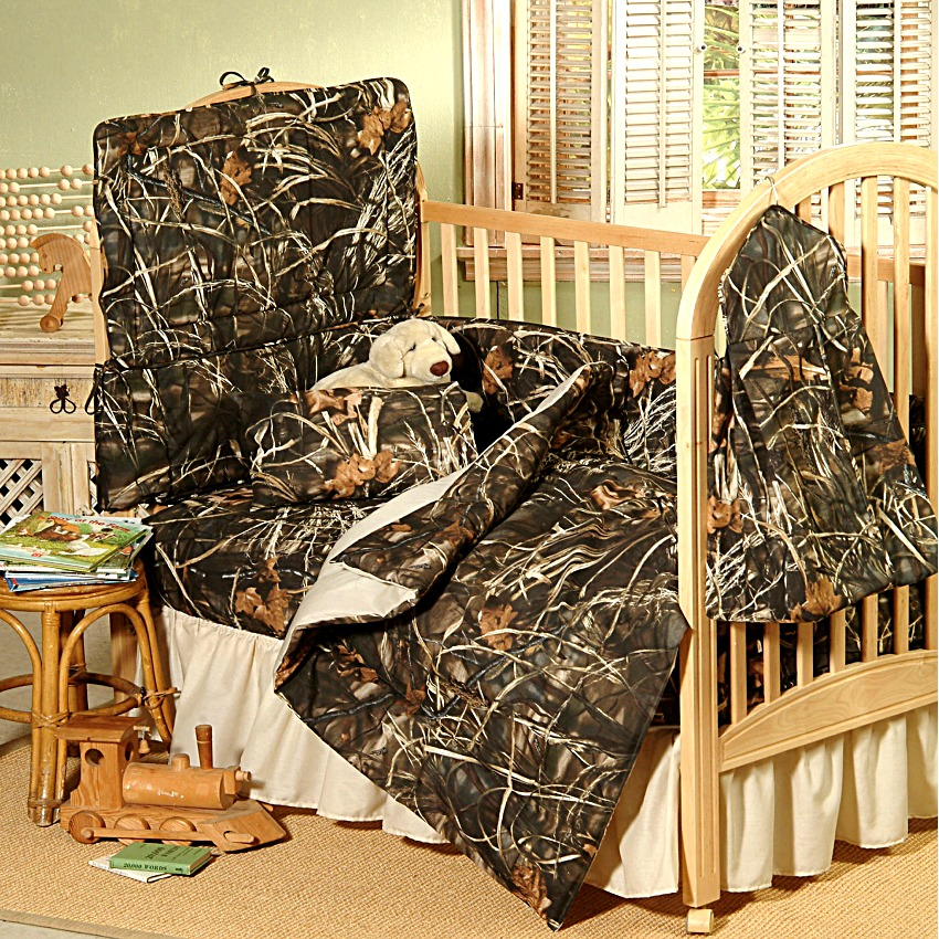 Realtree All Purporse HD Camo Baby Crib Bedding Set 7pc