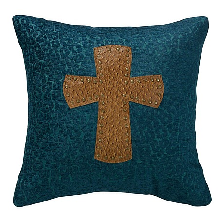 Decorative Western Throw Pillows : Alamosa Western Decorative Cross Pillow