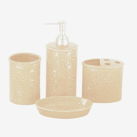 Savannah western bath accessories set cream for Savannah bathroom accessories