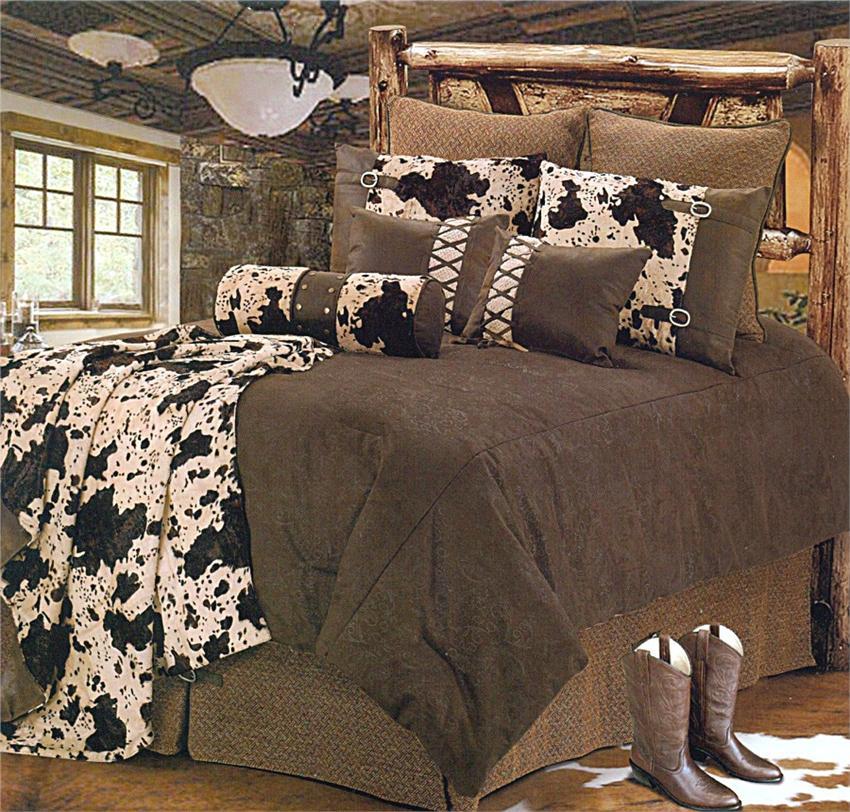 western comforter sets king El Dorado Western Bedding Comforter Set Super King western comforter sets king