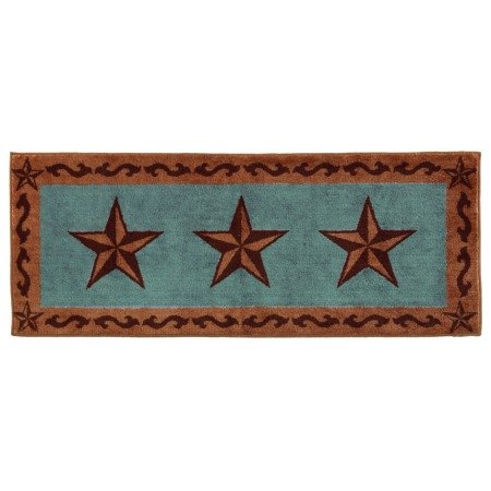 Creative Your Western Decor Offers Our Western Turquoise Rug W Cross &amp Barbed Wire Add Western Turquoise Bathroom Decor To Your Space With This Rustic Bath Rug Western By Design Accent Rug For Your Doorway Rich Turquoise Ground With