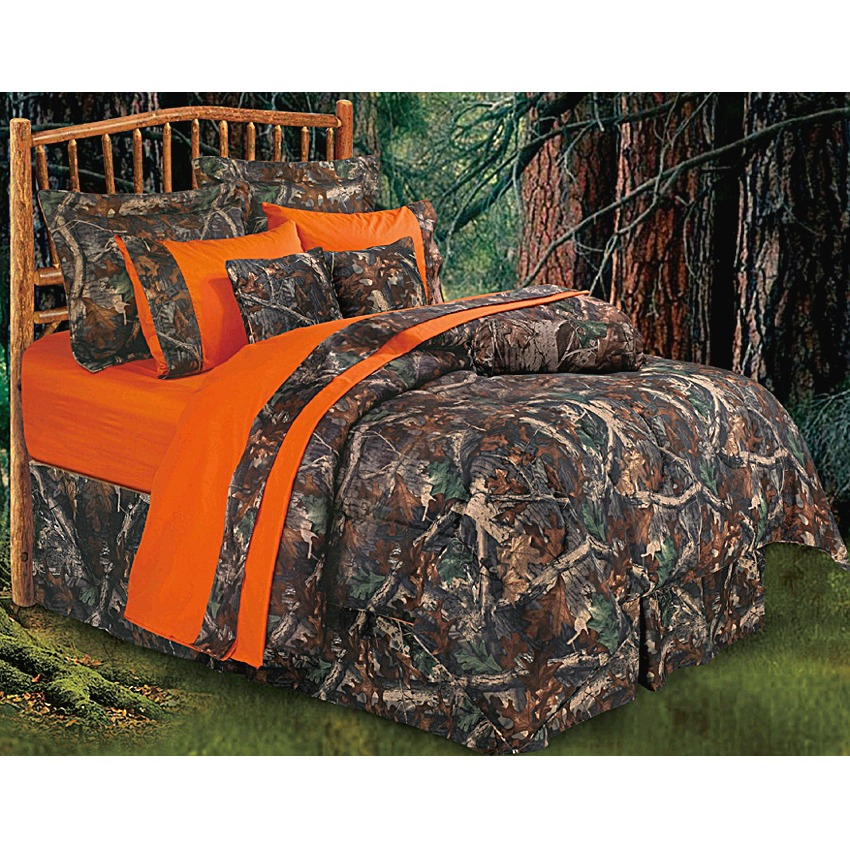 WOODS KING COMFORTER AND CURTAINS CAMO 6 PC