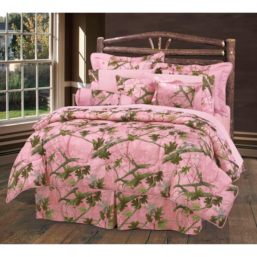 Pink Camo Bedding Set Queen