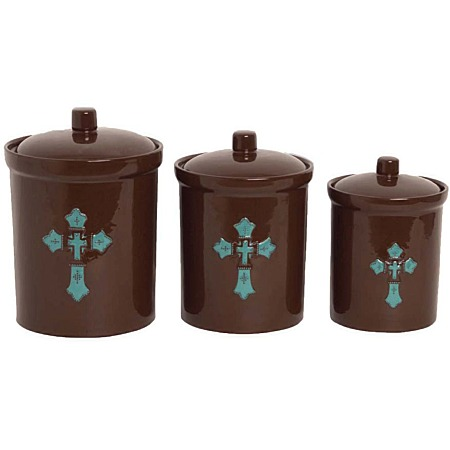 cross canister set turquiose