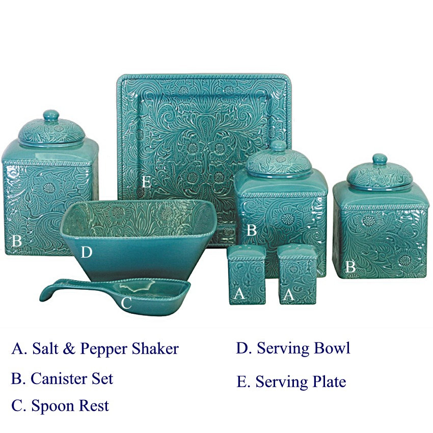 Amazing Teal Kitchen Canister Sets Laptoptabletsus