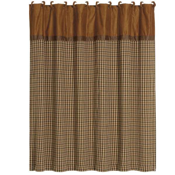 Crestwood Hounds Tooth Rustic Shower Curtain