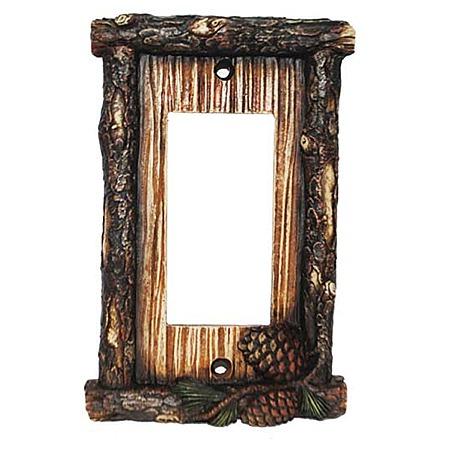 Pine cone decorative switch wall plate single rocker switch - Decorative switch wall plates ...