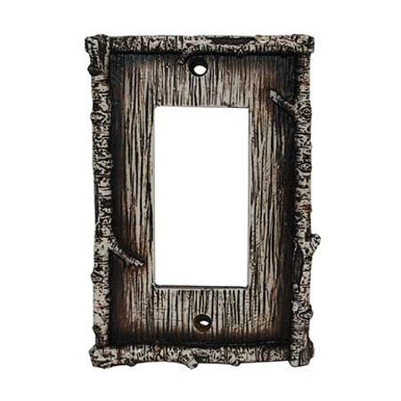Birch decorative switch wall plate single rocker switch - Decorative switch wall plates ...