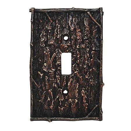 Camo tree bark decorative switch wall plate single switch - Decorative switch wall plates ...