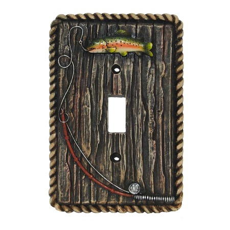 Rainbow trout decorative switch wall plate single switch - Wall switch plates decorative ...