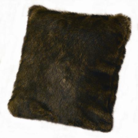 Brown Fur Throw Pillows : Faux Fur Brown Mink Pillow