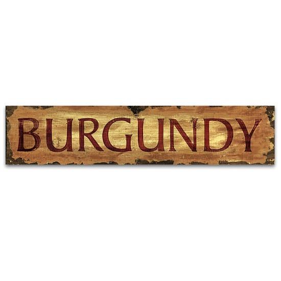 Burgundy Vintage Home Decor Wood Sign