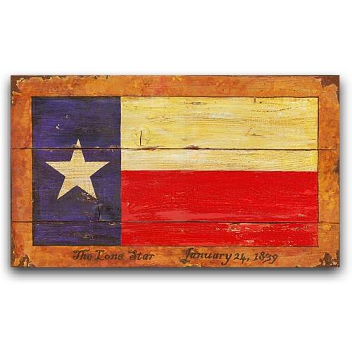 texas flag western decor vintage sign 26x14. Black Bedroom Furniture Sets. Home Design Ideas
