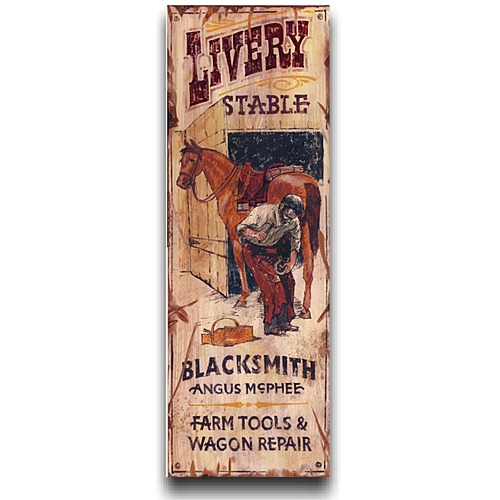 Livery Le Vintage Western Decor Wood Sign