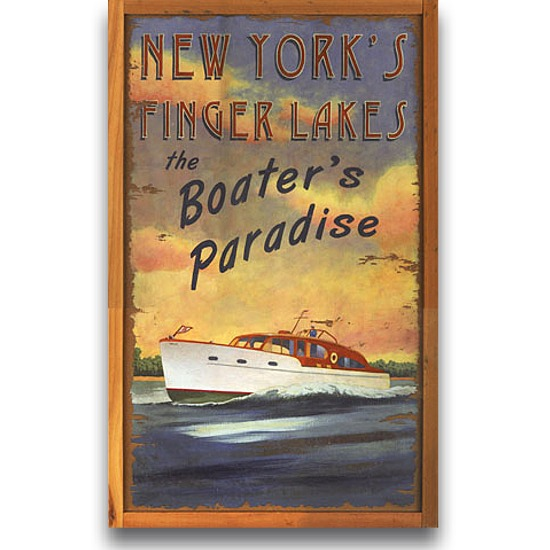 Large Wooden Signs Home Decor: Boater's Paradise Vintage Home Decor Wood Sign Large 20x32