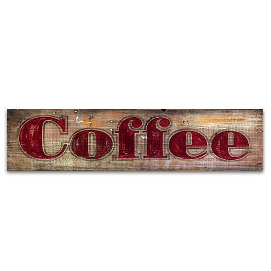 Coffee vintage home decor wood sign for Home decor signs