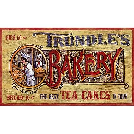 Trundles Bakery Vintage Wood Sign
