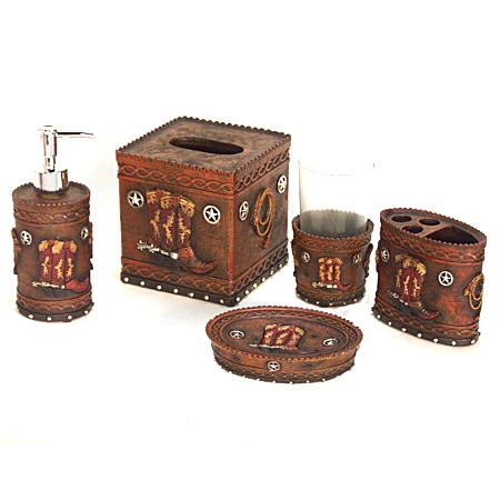 Elegant Home Western Bath Decor Bath Sets Western Horse 3pc Bath Hardware Set