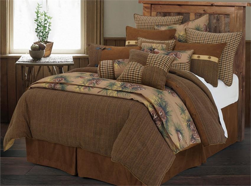 Crestwood Pine Cone Rustic Comforter Set Super King