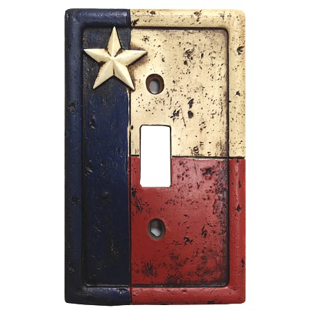 Rustic texas flag decorative switch wall plate single switch - Decorative switch wall plates ...