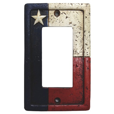 Rustic texas decorative switch wall plate single rocker switch - Decorative switch wall plates ...