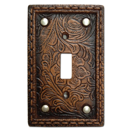 Tooled western decorative switch wall plate single switch - Decorative switch wall plates ...