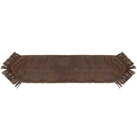 Distressed Faux Leather Table Runner