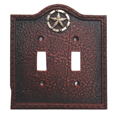 Circle Star Western Decorative Double Switch Plate Wall Plate