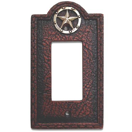 Circle star western decorative single rocker switch plate wall plate - Decorative switch wall plates ...