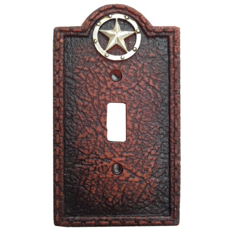 Circle star western decorative single switch plate wall plate - Wall switch plates decorative ...