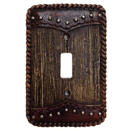 Wood dbl yoke decorative switch wall plate single switch - Decorative switch wall plates ...