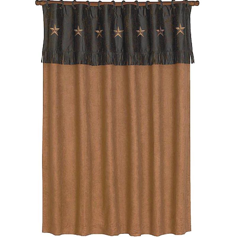 Laredo Star Western Shower Curtain Chocolate Mocha And