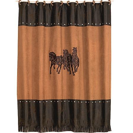 Western Shower Curtains Horse