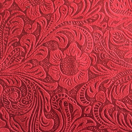 Cheyenne Western Shower Curtain Red Embossed Fabric Detail Approx 5x5 Inches