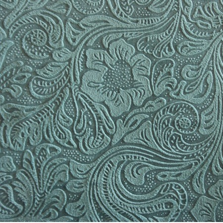 Cheyenne Western Shower Curtain Turquoise Embossed Fabric Detail Approx 5x5 Inches