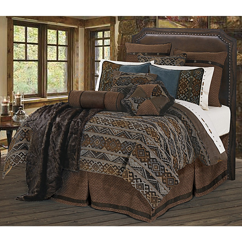 Southwestern navajo pattern western bedding set super king - Bedroom sheets and comforter sets ...