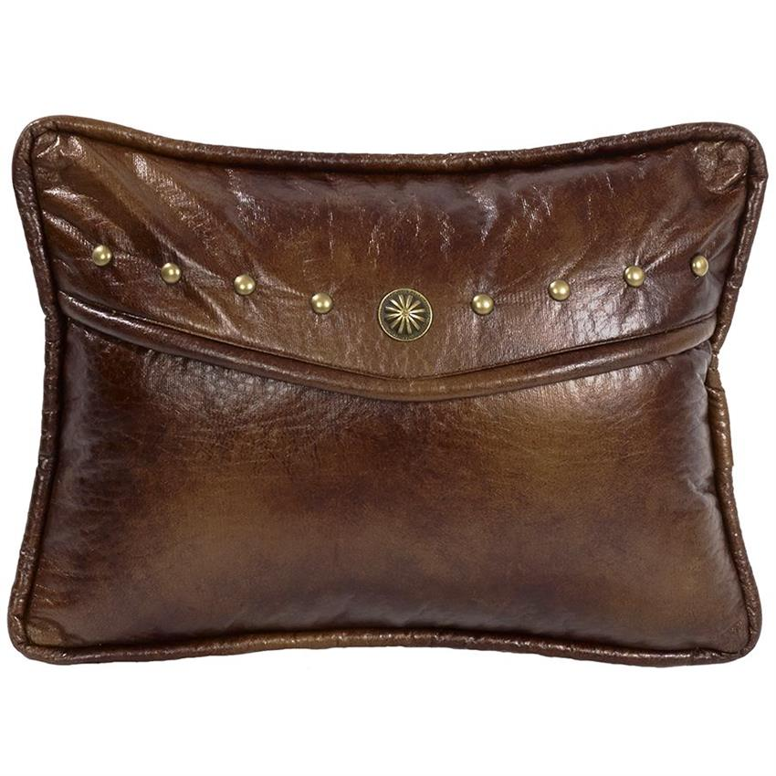 Decorative Pillows Leather : Ruidoso Southwestern Oblong Faux Leather Pillow