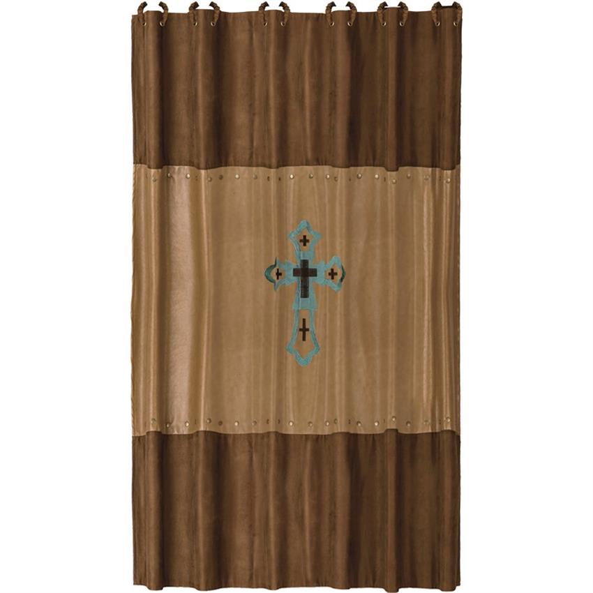 Las Cruces Ii Southwestern Cross Shower Curtain