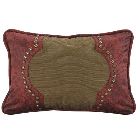 San Angelo Tan and Red Throw Pillow
