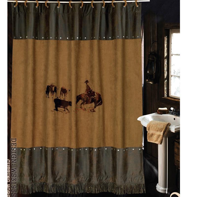 Barbwire Shower Curtain - Western Bedding Western Decor Western