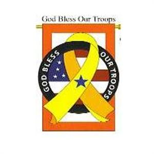 God Bless our Troops Garden Flag