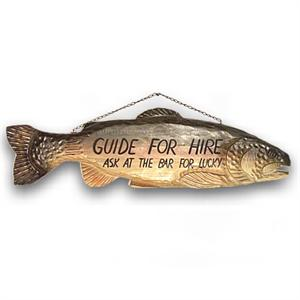 GUIDE FOR HIRE Trout Sign Big Sky Carvers