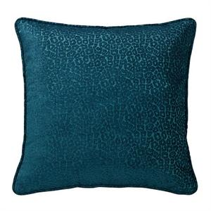 Alamosa Western Teal Chenille Leopard Pillow