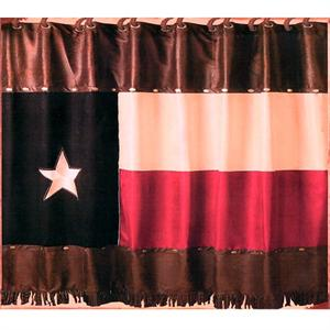 Texas Flag Western Shower Curtain