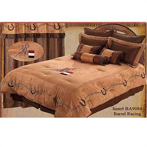 Cowgirl Barrel Racing Western Bedding Set
