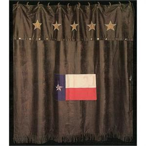 Texas Flag with Stars Shower Curtain