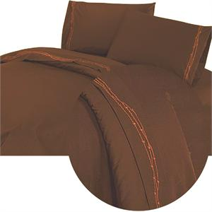 Western Bedding Barbwire Western Sheet Set (Chocolate) Full Size