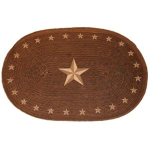 Laredo Star Print Bath or Kitchen Jute Rug 24x36