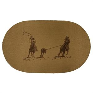 Team Ropers Western Decor Jute Rug