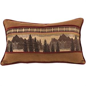 Briarcliff Rustic Bedding Mountain Scene Pillow